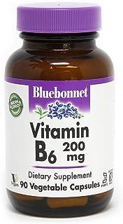 BlueBonnet Vitamin B-6 200 mg Vegetable Capsules, 90 Count (743715004320)