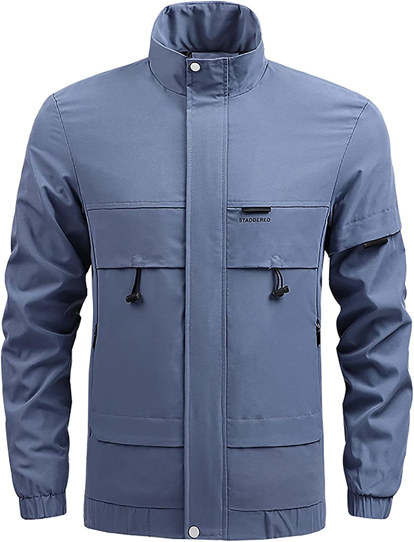 Men's Lightweight Shell Jackets Trend Coat Sports Outdoor Jacket Plus Size Waterproof Coat