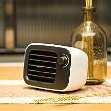 Mini Calefactor De Aire Caliente Ajuste De Temperatura Múltiple Aire Frio Y Caliente Dirección Del Viento Ajustable Antidumping Y Sobrecalentamiento Para Cuarto/Baño/Oficina 16*11*9Cm,Blanco