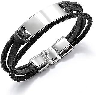 men's bracelet simple wild multi-layer woven men's leather bracelet smooth personality