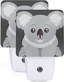 FybaGyabVA Australia Koala Bear Unique Plug-in Night Light,Warm White LED Nightlight,Dusk-to-Dawn Sensor for Bedroom, Bathroom, Kitchen, Hallway, Stair