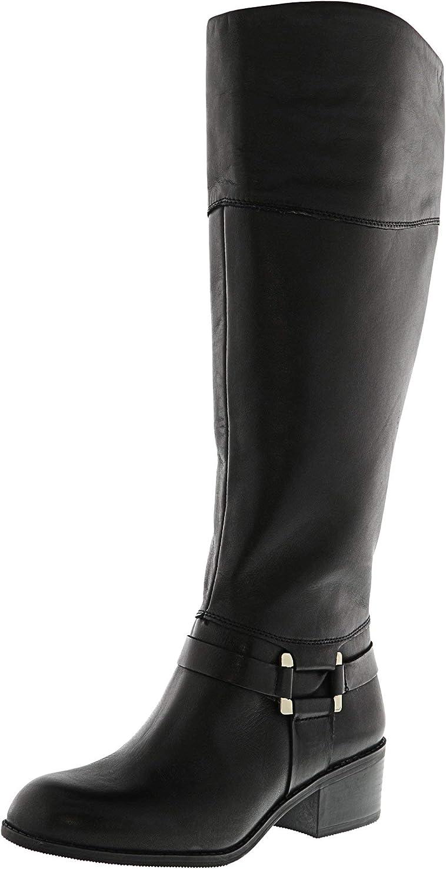 抗議抗議ファッションAlfani Women's Biliee Knee-High Leather Equestrian Boot