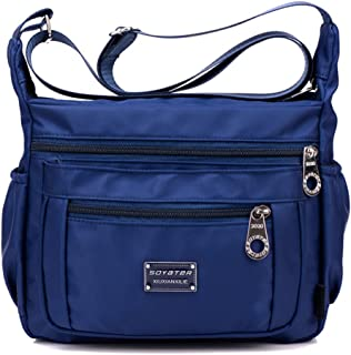Soyater Nylon Crossbody Shoulder Bag, 9 Pockets