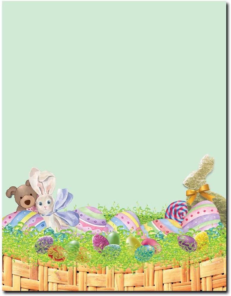 Easter Basket Letterhead Laser & Inkjet Printer Paper, 100 pack