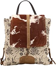 Myra Bag Stalk Upcycled Canvas & Cowhide Backpack S-1439