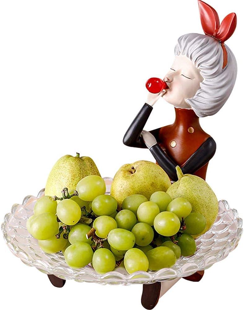 Girl Manufacturer OFFicial shop Figurine Resin Snack Serving Dishglass Candy Max 49% OFF Bowl Des Fruit