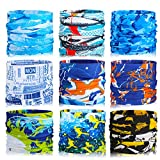 TAGVO Magic Headband Seamless Bandana Elastic Headwrap Scarf Tube Balaclava Neck Gaiter Multifunctional Headwear Neckwarmer Face Mask for Running Cycling Motorcycling Yoga Outdoors Sports (9 Pack)
