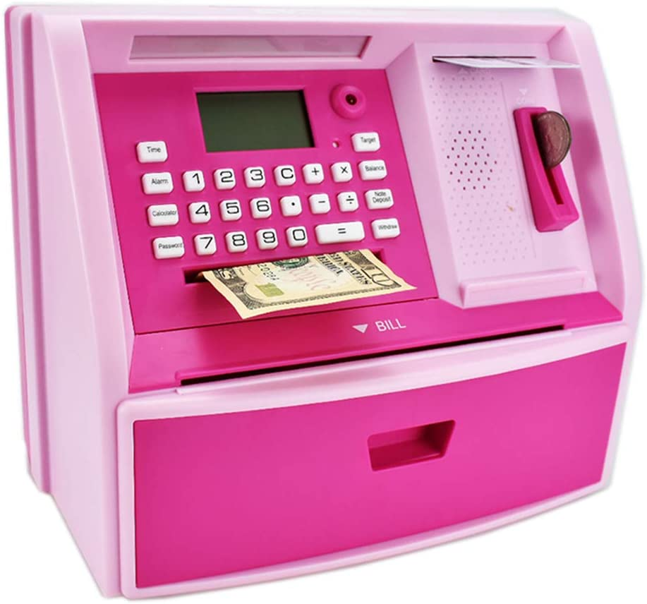 ATM Savings Bank for Real Lock unisex Now free shipping with Money Password Piggy
