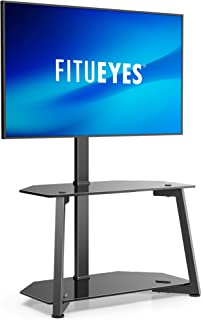 FITUEYES Corner Floor TV Stand for 23-55 Inch TVs Console Stands with Entertainment Center Perfect for Media-Height Adjust...