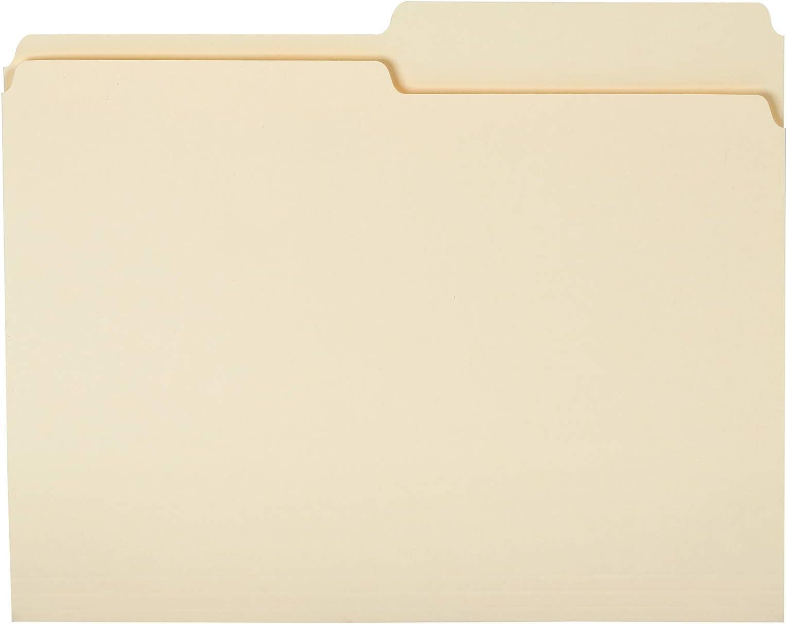 Amazon Basics File Folders - 1/2 Tab, Manila, Letter Size, 36-Pack