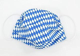 Mund- & Nasenmaske - Raute Blau Weiß - Baumwollmaske