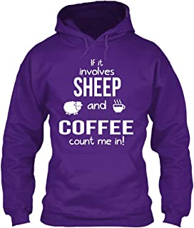 If it Involves Sheep and Coffee. Sweatshirt - Gildan 8oz Heavy Blend Hoodie