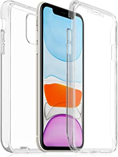 ROVLAK Estuche + Protector de pantalla para iPhone 11 Protector de pantalla frontal + Estuche rígido para PC Estuche protector 360 ° Estuche a prueba de golpes Estuche transparente para iPhone 11 Smartphone, Transparente