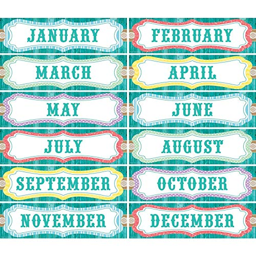 Teacher Created Resources Shabby Chic Monthly Headliners (77193) Photo #3
