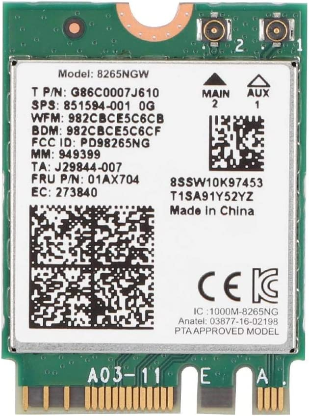 Wireless San Diego Mall Network Card Bluetooth 4.2 Intel for 802.11AC Bombing free shipping 8265 867M