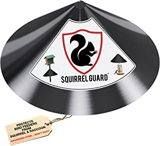 PREDATORGUARD Squirrel Guard Baffle - Protects Hanging Bird Feeders & Poles - Raccoon & Squirrel Proof Your Bird Feeders & Bird Houses - Anti-Rust Galvanized Steel - 17 Inch