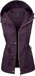 Women's Hooded Utility Pocket Anorak Jacket Vest [S-3XL / 9 Colors]
