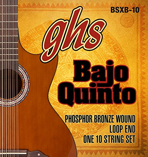 GHS Strings GHS PHOSPHOR BRONZE BAJO QUINTO Strings - Loop End (BSXB-10)