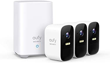 $349 » eufy Security, eufyCam 2C 3-Cam Kit, Wireless Home Security System with 180-Day Battery Life, 1080p HD, IP67, Night Vision, No Monthly Fee