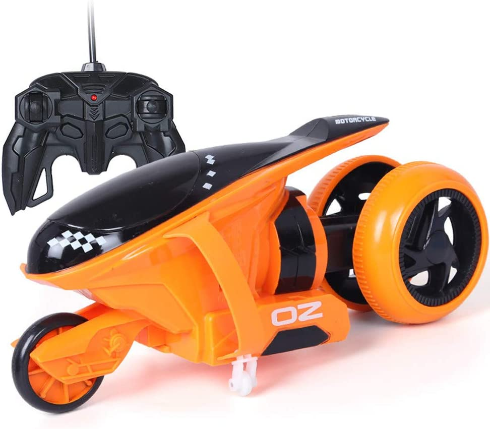 High-Speed Racing RC Car Toy Car is Suitable for Children Over 6 Years Old 90/°Independent Flip Bracket 180/° Stunt Toy Car Best Blue