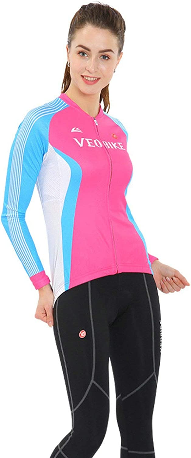 Aooaz Women's Bike Riding Clothes Long Sleeve Set Perspiration Function Fabric Riding Clothing