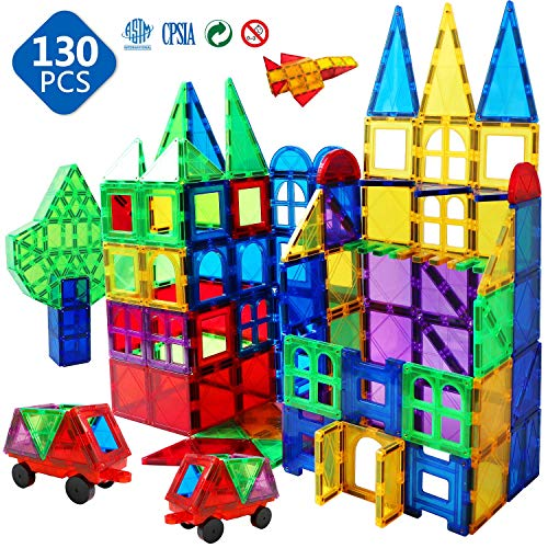 in budget affordable Magnet Building Tile 130 3D Toy Magnet Magnetic Block Set Kindergarten Toy Gift 3 4 5…