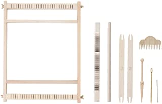Large Weaving Loom Kit, Tapestry Weave Loom,Weaving Beginners,Woven Wall Art,Lap Heddle Loom with Stand(32cm X 40cm) 12.5