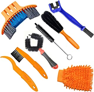 Gear Chain Cleaning Brushes Maintenance Tools for Motorcycle and Mountain Bike hdauk 6-Pack Bicycle Chain Cleaning Brushes Kit
