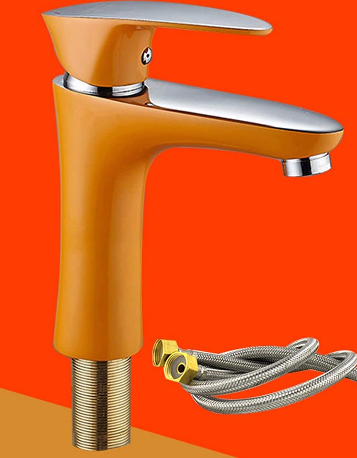 Hlluya Professional Sink Mixer Tap Kitchen Faucet Copper, hot and cold, bathroom, single hole Washbasin Faucet 6