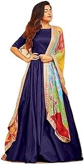 Shlok Enterprise Women's Georgrtte semi stitched salwar suit