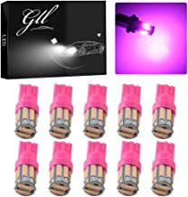 Grandview 350 Lumens Pink T10 194 168 921 W5W 7014 10-SMD LED Interior Lights Bulb Car Replacement Lights Truck License Pl...