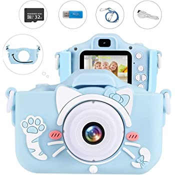 Children Gift 2 inch Color Display Screen 1280720 Resolution Cartoon Kids Camera Children Toy Cameras Built-in Multiple Puzzle Games Kids Camera