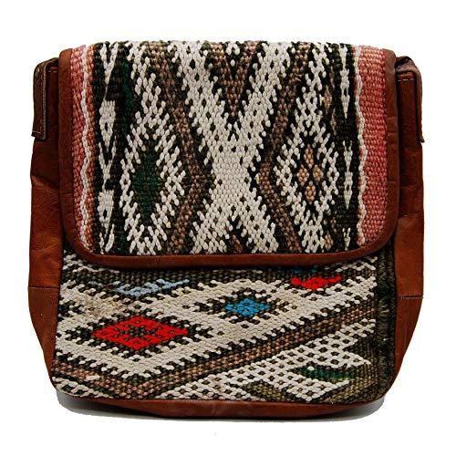 Etnico Arredo Bolso bandolera auténtica piel africana Marruecos cuero vintage 0705201101