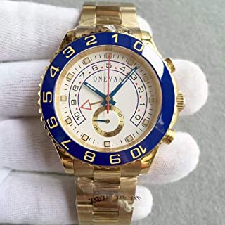CWTCHY Luxury Watche Automatic Blue Ceramic Bezel Mens Stainless Steel Watches Sapphire Glass Yacht Mater Wristwatch Multifunction