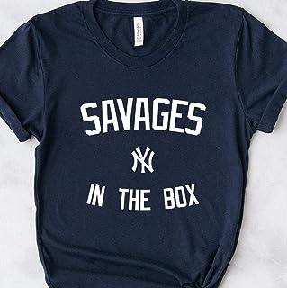 Yankees Savages In The Box Fan Tee - _Savages in the Box_ Torres Judge Stanton Voit Gregorious Sanchez Encarnacion LeMahieu Sabathia German Gift T-Shirt for Men Woman