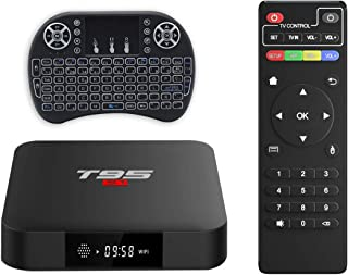 comprar comparacion Android TV Box, T95 S1 TV Box 2GB RAM/16GB ROM Android 7.1 Amlogic S905W Quad Core Soporte 2.4GHz WiFi H.265 4K HDMI DLNA ...