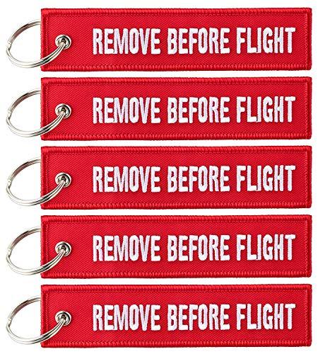Paquete de 5 etiquetas para equipaje de crucero para mujeres y hombres | llavero multiusos | etiqueta para equipaje de cabina piloto de viajero Remove Before Flight Talla única