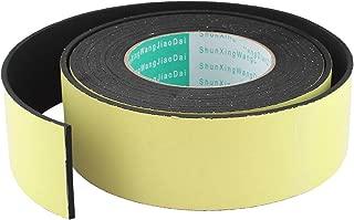 DealMux 1m x 25mm White Flexible Round Solid Silicone Rubber Foam Sealing Strip