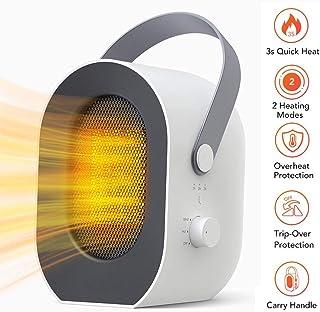 XCHUNA Calentador de Espacios, Calefactor eléctrico portátil con Sobrecalentamiento de vuelco Protección, Escritorio Personal Heaterfor hogar, Oficina y Uso en Interiores