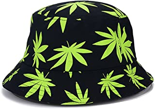 947ffdae ChezAbbey Unisex Outdoor Flat Top Bucket Hats Wide Brim Sun Protection  Fisherman Caps with Patterns