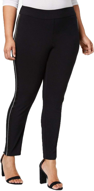 I-N-C Womens Satin Stripe Casual Trouser Pants