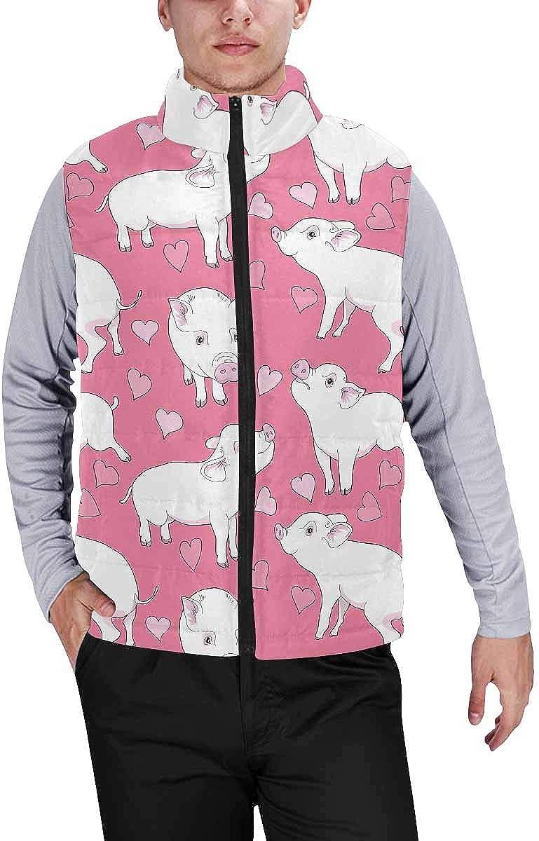 InterestPrint Men's Lightweight Vest Softshell for Camp Pi Symbol