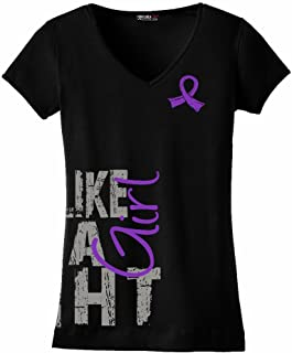 fight like a girl purple ribbon