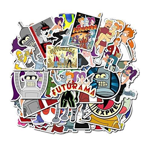 LSPLSP Lote de dibujos animados Animación Moscas Fuera del Futuro Pegatina Personalizada Graffiti Decorado Equipaje Impermeable Juguete Infantil 50 Piezas