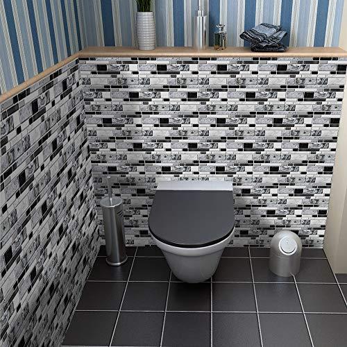 Adhesivo decorativo para pared para decoración del hogar, despegar y pegar, autoadhesivo, para azulejos de salón, cocina, baño, 9 unidades