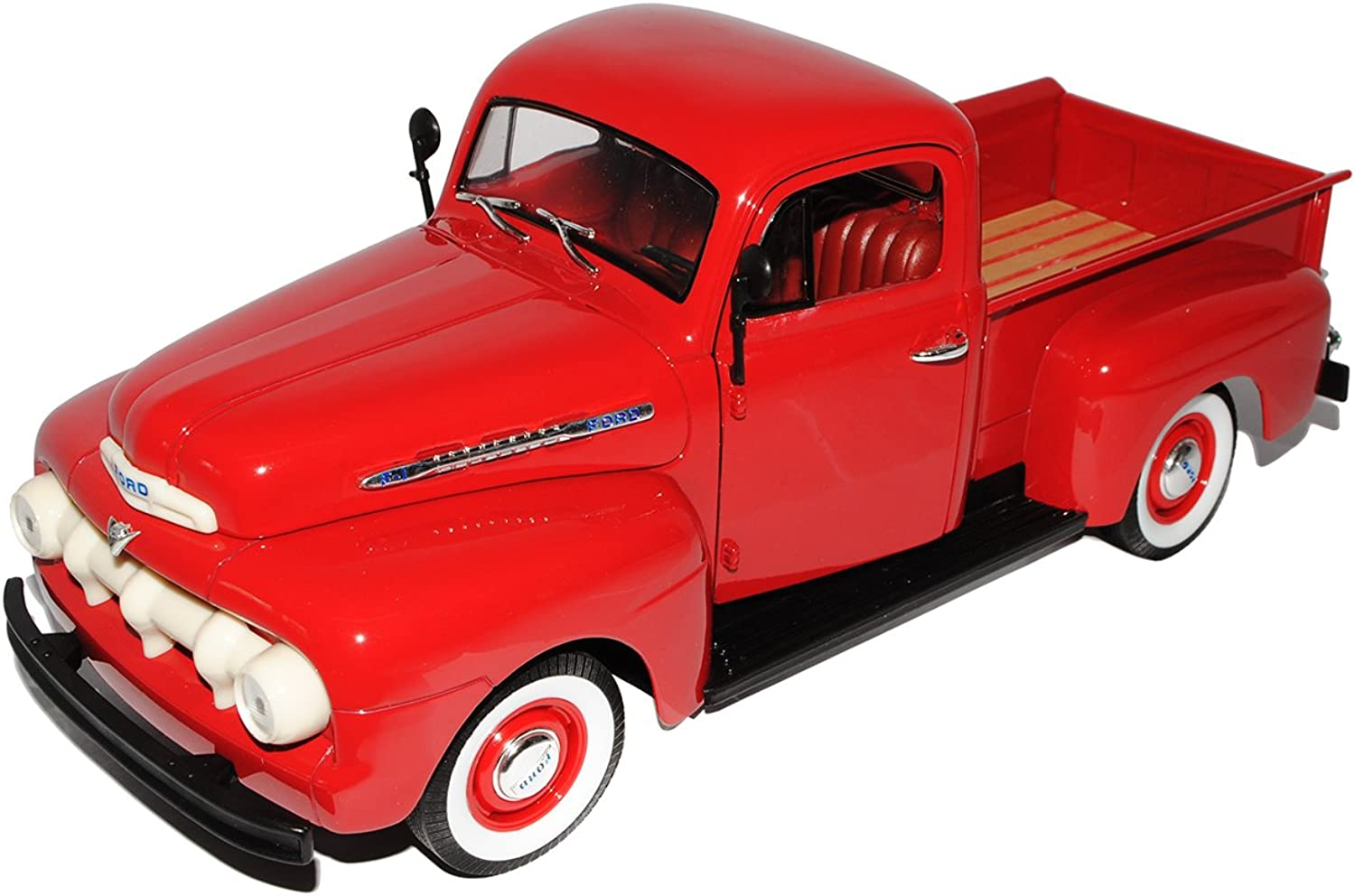 Ford F-1 F1 Pick-up 1951 Rot 1 18 Welly Modellauto Modell Auto B0055P1SVU Angemessener Preis  | Discount