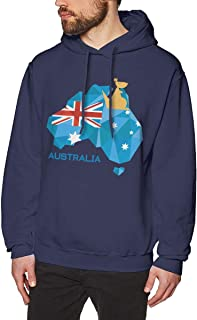 Men Casual Style Comfortable Sweatshirt Print Stralia Flag Map Australia National Pride