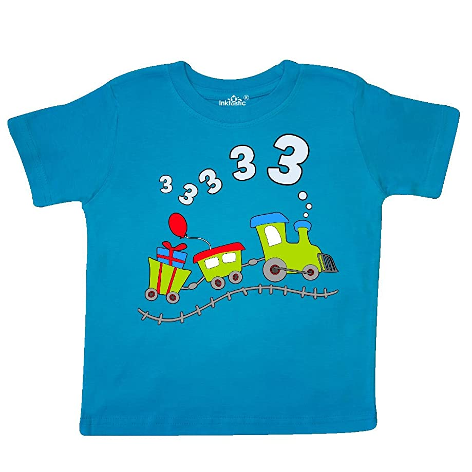 inktastic - 3rd Birthday Party Train Toddler T-Shirt 285d4