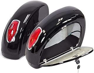 Universal Black Hard Saddle Bag Mount Bracket Trunk Luggage tail light motorcycle