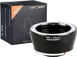 [正規代理店]K&F オリンパスOM-ニコン1 マウントアダプター レンズクロス付 om-n1 (KFN1)